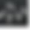 4 breloques tire-bouchons  3d ne métal argenté vieilli