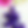 Lot de 6 perles brillantes en acrylique tete de mort violette