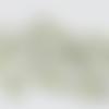 Cabochon strass vert  clair en acrylique (x40)