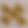 10 breloques petit éléphant en métal doré vieilli