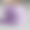 Ruban mauve motif champignons (x 1 mètre)