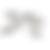 10 breloques petit croc en métal argenté vieilli