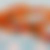 Ruban orange motif petites chouettes (x 1 mètre)