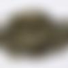 Gros embouts fermoir chaine bille en métal bronze (x 20)
