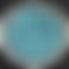 20 perles rondes bleues glacier 6 mm (non percées) à coller