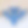 Pendentif grand arc bleu en plaqué argent