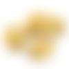 Perles motif fleur et papillon en métal doré (x6)
