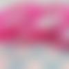 Ruban fuchsia motif petites chouettes (x 1 mètre)