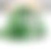 Ruban vert motif zèbre en polyester gros grain (x 1 mètre)