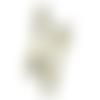 10 breloques/pendentifs fourchette ciselée en métal bronze
