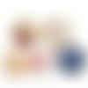 Cabochon en verre motif image de noel (x5)