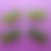 Cabochons grands noeuds strass vert  (x 4)