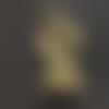 6 breloques main/poing en métal bronze