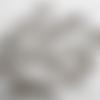 10 breloques gros piques argentés en acrylique