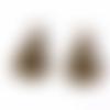 4 breloques couple de chats 3d en métal bronze
