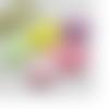 5 appliques coeurs 3d à coudre ou coller  (lot aléatoire de couleur)