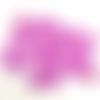 Cabochons forme étoile fuchsia en acrylique (x 12)