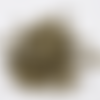 30 petites perles coupelles forme étoile en métal bronze