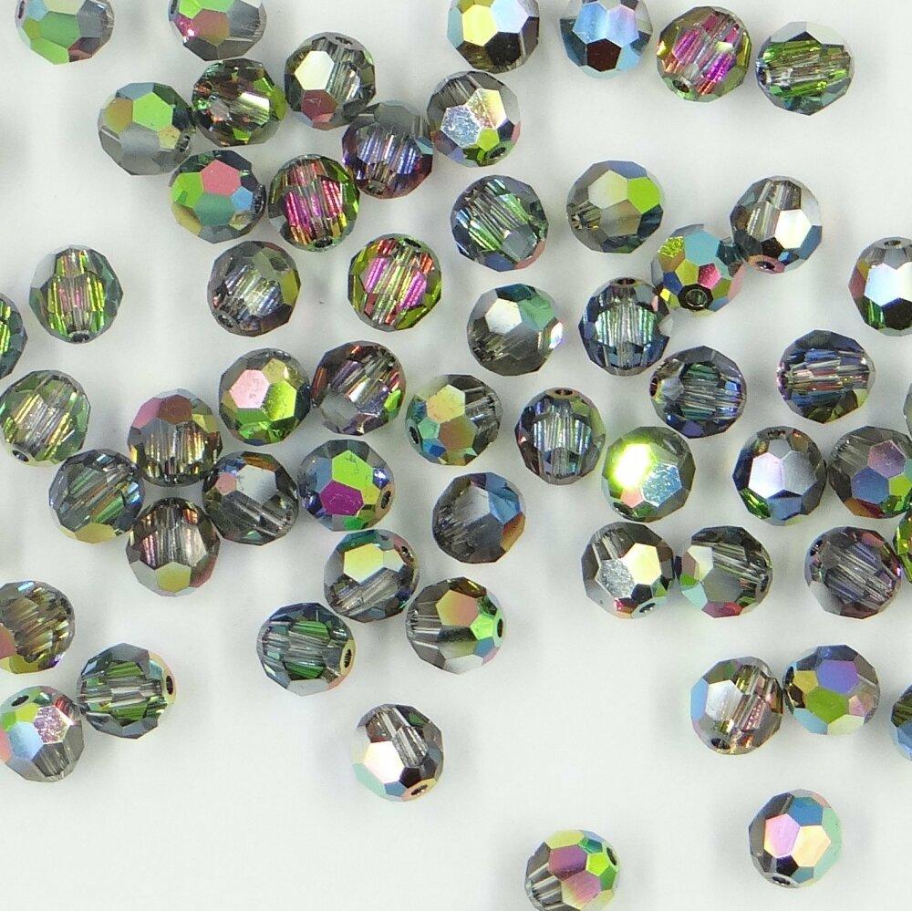 5000 5 vm *** 12 perles cristal swarovski réf. 5000 5mm crystal vitrail  medium