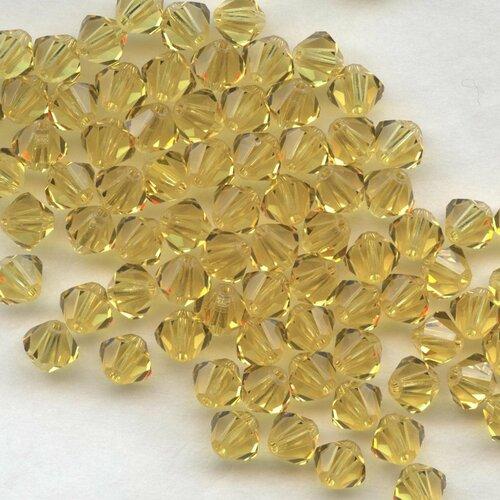 T5 5301  SAY *** 20 toupies cristal Swarovski 5 mm SAPPHIRE SATIN