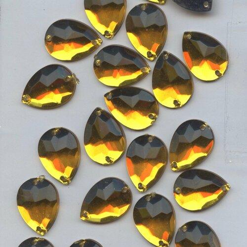 PC7 *** 50 pierres à coudre à facettes acrylique rondes 10mm TURQUOISE