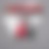 Cadeau maitresse: boucles d'oreilles petit chaperon rouge et loup gris en pâte polymère fimo