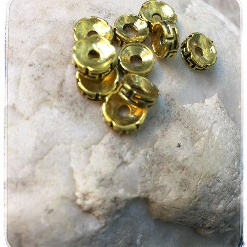 20 perles intercalaires tibétaines  doré