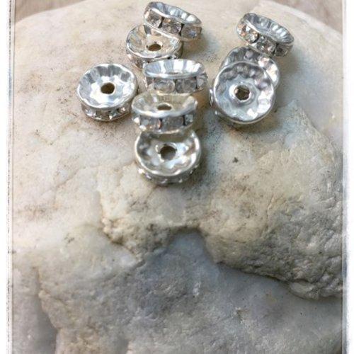 20 perles intercalaires tibétaines  argenté