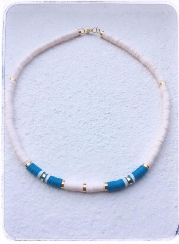 COLLIER  HEISHI / Blanc et Bleu