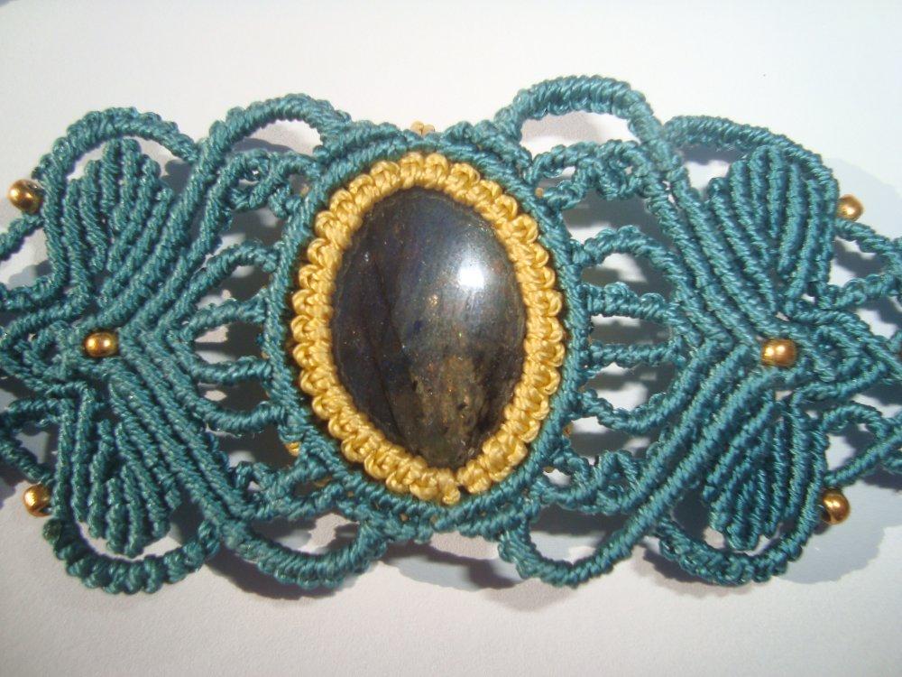 Bracelet macramé labradorite