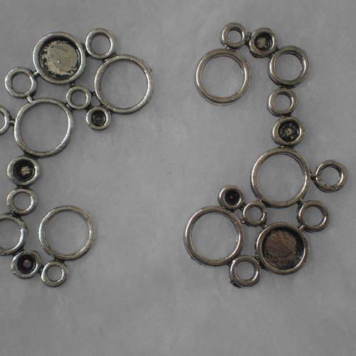 Breloque support cabochon anneaux  camée
