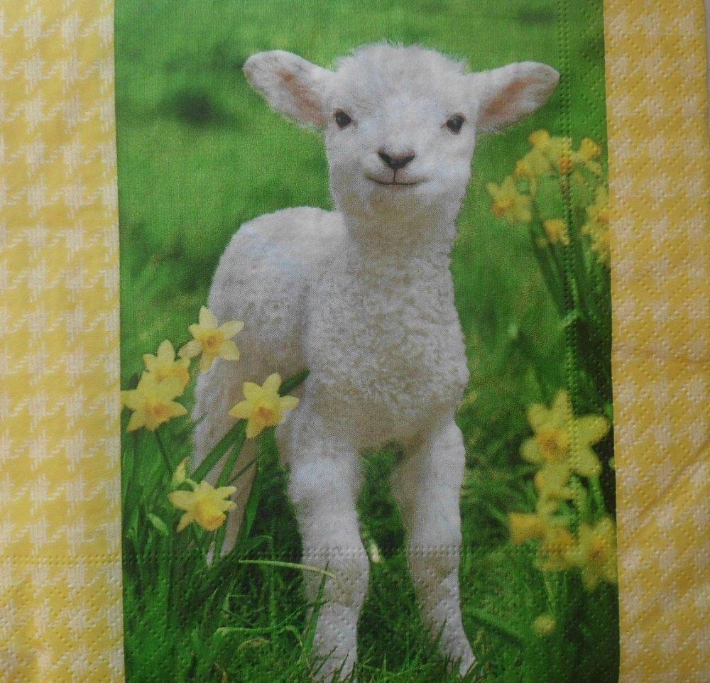 serviette en papier agneau (149)