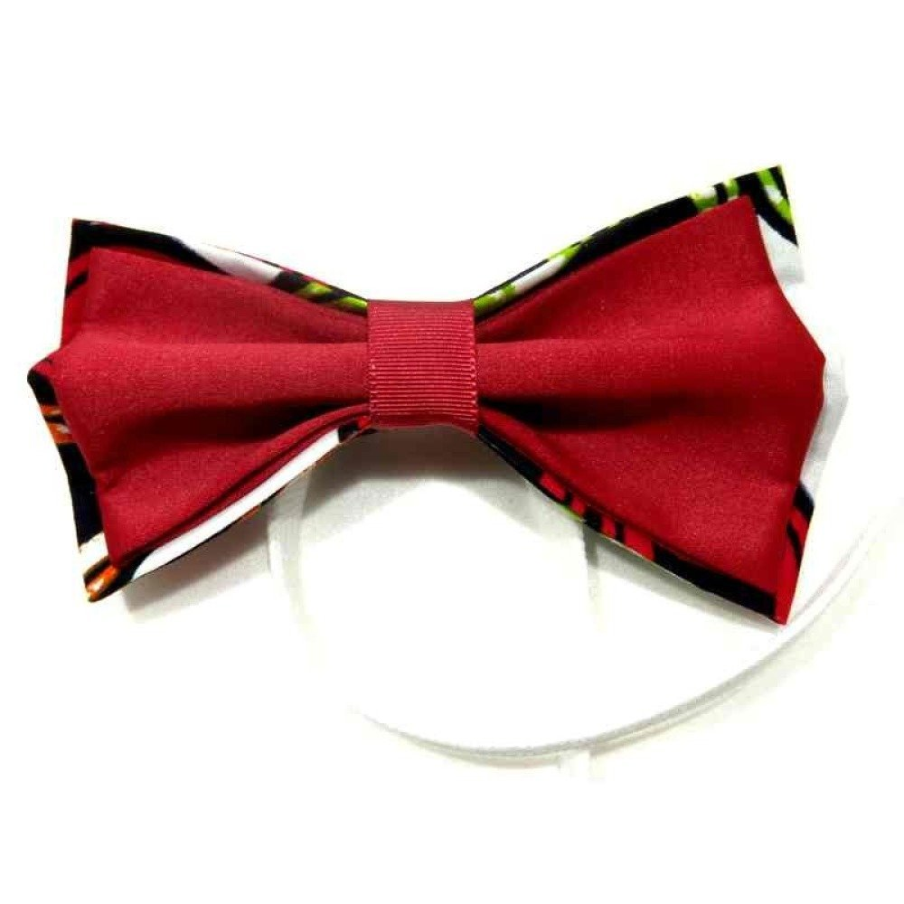 Noeud papillon wax et satin rouge