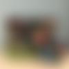 Sac de plage, cabas, sac de courses tissu imprimé feuillage exotique, perroquet avec sa pochette assortie
