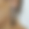 Clips boucles d'oreilles clips noir & argente anneau strass pompon bijoux créateur création française fait main