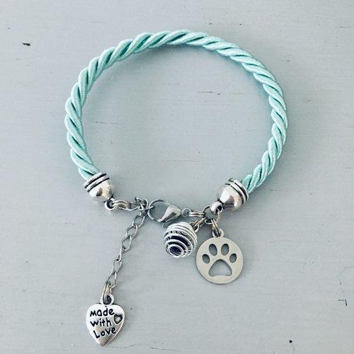 Bracelet turquoise patte de chien, bijoux, bracelets, bracelet femme, bijoux cadeaux