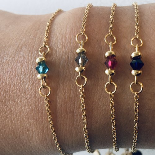bracelet femme or et perle