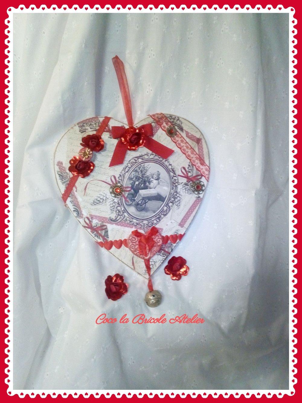 Coeur rouge vintage