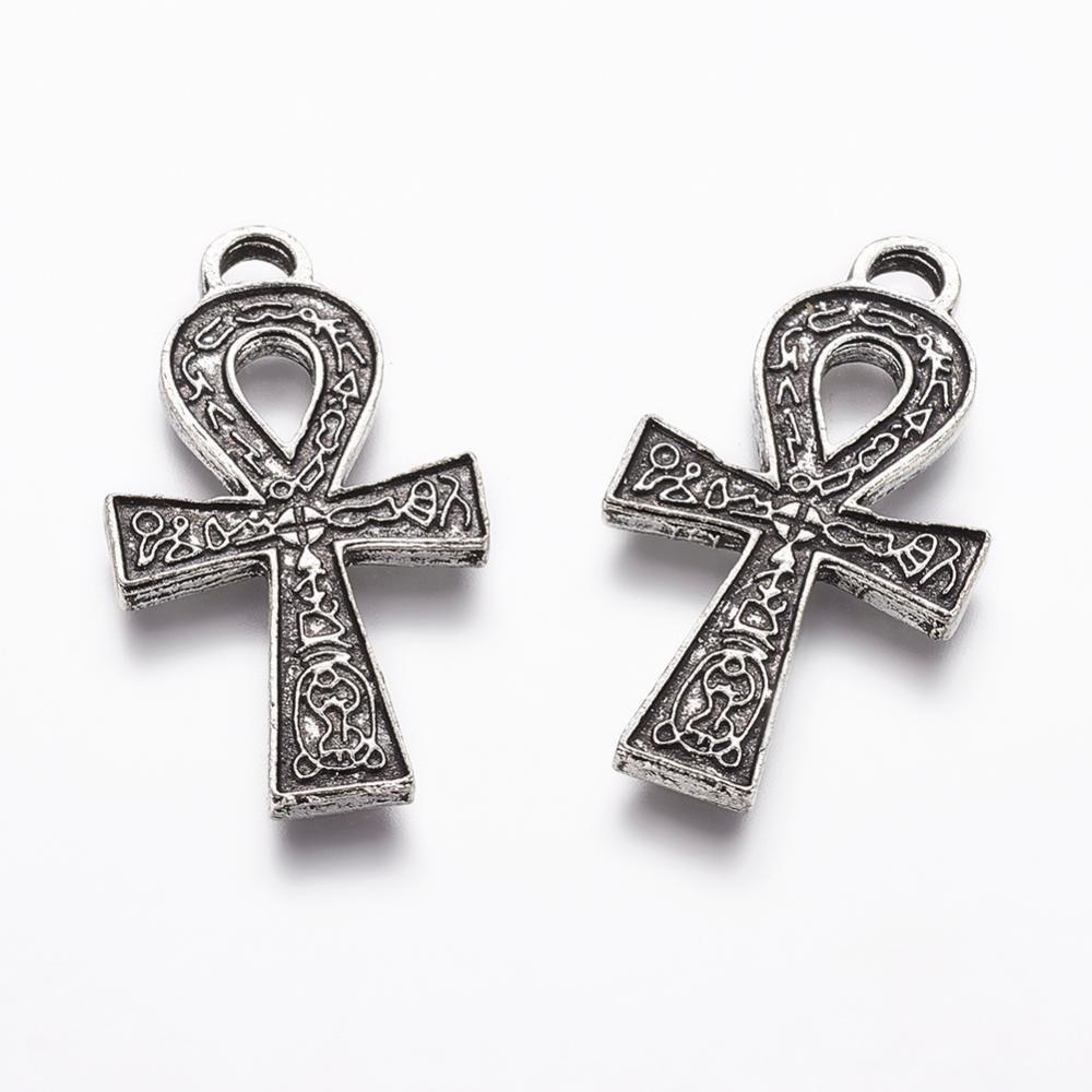 2 pendentifs croix Ankh style tibétain
