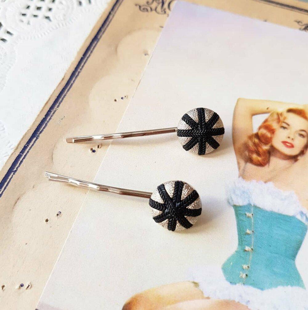 2 barrettes étoile , accessoire coiffure pin up rockabilly rock