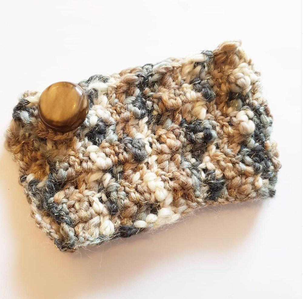 Housse de tasse en laine - Déco cozy rustique - idée cadeau pour homme - MARRON