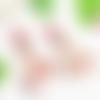 Boucles d'oreilles feuille fossile, bijou textile feutrine femme - crochet en laiton