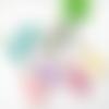 Pendentif buffle et pompon, collier crane de vache, bijou boheme
