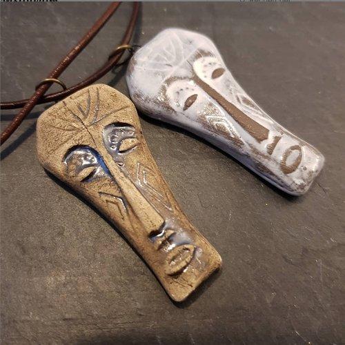 Collier masque africain, bijou ethnique