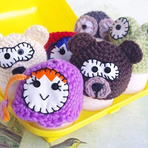 Animal matriochka couvre oeuf décoration de cuisine rigolote, cadeau fun enfant adulte