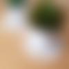 Petit sous verre flocon de neige en coton blanc, sous verre lot de 2, mini napperon crochet, décoration maison cuisine