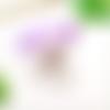 Boucles d'oreilles lucite tulipe, fleur tombante - 5 couleurs au choix