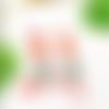 Boucles d'oreilles orange turquoise, bijou céramique, bijoux crochet