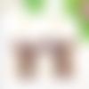 Boucles d'oreilles chandelier demi lune violet bronze serpent doré laiton