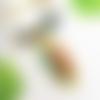 Collier plastron bohème, pierres agate verte, pendentif fleur de lotus ou plume, bijou zen vert mousse